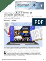 Reinventa La UNAM El Proceso de Enseñanza-Aprendizaje - Gaceta UNAM