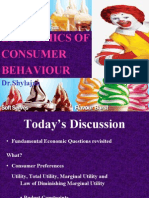 ECONOMICS OF Consumer-Behavior