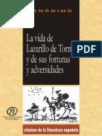 Anónimo. - La Vida de Lazarillo de Tormes y de Sus Fortunas y de Sus Adversidades [2003]