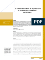 Ruiz Zapateros valores educativos de la prehistoria