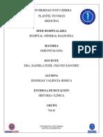 Historia Clínica-Gerontología