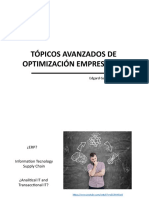 Introducción Tópicos Avanzados de Optimización Empresarial