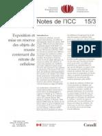 VVAA. Objets Contenant Du Nitrate de Cellulose. ICC. 1994