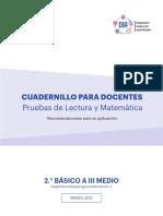 Cuadernillo Docentes Lectura y Matematica 7 BASICO