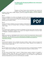 20 DICAS PARA ELABORAÇÃO DE PEÇAS PRÁTICAS DELEGADO SÉRGIO BAUTZER