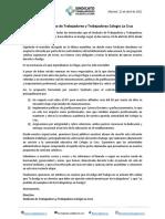 Declaración Pública - Huelga Colegio La Cruz