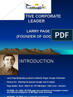 LARRY PAGE(GOOGLE)