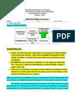 GUIA DE INGLES DE 5 TO AÑO II LAPSO DE 12 PTS. ELIZABETH PADILLA