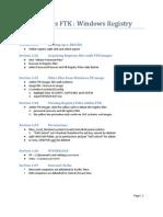 FTK registry notes