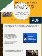 Derechos humanos y su declaración en el siglo xx.2