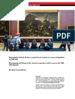 Museografia e História da Arte a experiência de Jeanron no Louvre na República