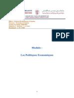 A. EL HIRI - Politiques économiques Introduction - SEG - Parcours Economie et gestion -Séance n°1 - Introduction