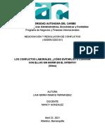 NEGOCIACIÓN Y RESOLUCIÓN DE CONFLICTOS - Formativa ensayo