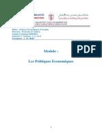 A. EL HIRI - Support n°3- Politiques économiques - SEG - Parcours Economie et gestion -Chapitre I - Sections III