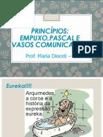 PRINCÍPIOS  EMPUXP PASCAL E VASOS COMUNICANTES 6 ANO
