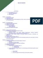 SAD Documentation Outline