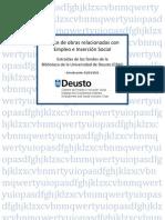 Indice de obras relacionadas con Empleo e Inserción Social