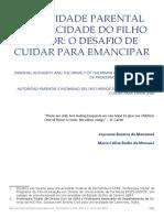 Maria Celina Bodin de Moraes - Autoridade parental e privacidade dos filhos
