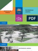 ENFERMEDAD LABORAL Y ACCIDENTE DE TRABAJO DIAPOSITIVA