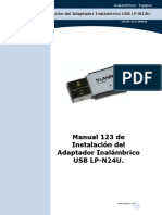Instalación del Adaptador Inalámbrico USB LP-N24U