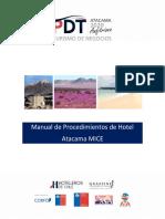 Anexo 10 Manual de procedimientos del Hotel Atacama Mice