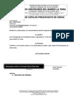 Solicitud de Copia de Presupuesto de Obras Municipales
