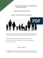 Proyecto del curso Inclusión social de personas con discapacidad desde un enfoque de derechos.