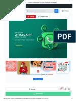 Logotipo do whatsapp 3d com ícones de bate-papo _ PSD Grátis