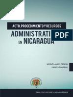 Acto, procedimiento y recursos administratvos en Nicaragua