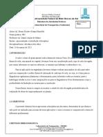 Relatório 01 - Bruno Ricarte Granja Montello