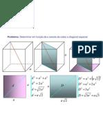 Matemática - Geometria - diagonal espacial