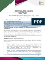 Guía de actividades y Rúbrica de evaluación – Unidad 3 - Paso  4 Sobre la transposición didáctica (1)