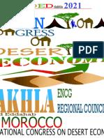Dakhla. Troisième Congrès International Sur l'Économie Du Désert,  Économie De l'Énergie Entre Déserts Et Océans. ENCG Dakhla, Conférence De Développement Des Régions Arides, Sahara, Maroc