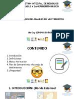 GENERALIDADES DEL MANEJO DE VERTIMIENTOS