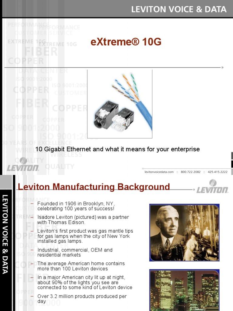 Leviton makes it easy - 10 Gig. | Ethernet | Optical Fiber