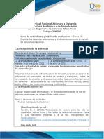 Guia de actividades y Rúbrica de evaluación - Tarea 3 - Explicar los servicios telemáticos y el dimensionamiento en la red de telecomunicaciones