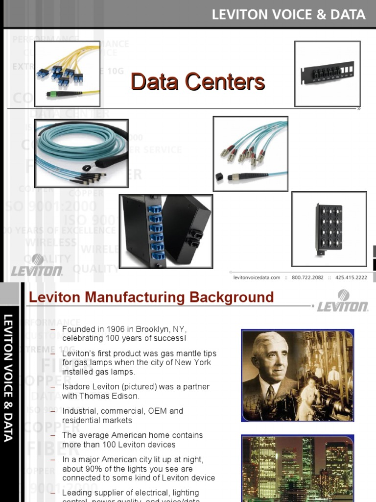 Leviton Makes it Easy data centers A | Data Center | Electrical ...