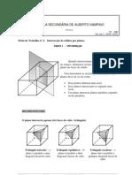 Matemática - Geometria - Ficha de Trabalho nº 2 Intersecção de sólidos por planos