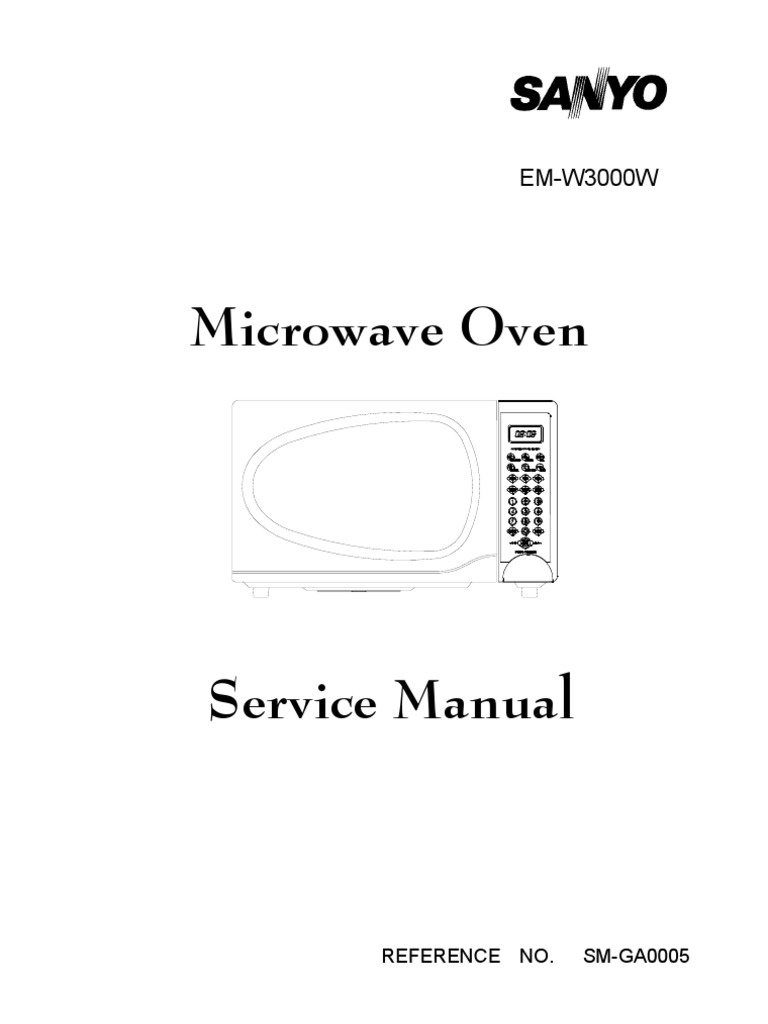 Sanyo-Microwave-Oven-Service-Manual-2029 | Rectifier | Electric Generator