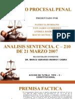 ANALISIS DIAPOSITIVAS SENTENCIA PROCESAL PENAL 2 CORTE