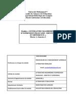 Pr. Assia Belhabib module littérature maghrébine M 1