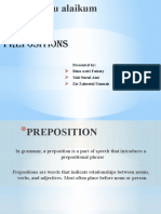 PREPOSITIONS of ENGLISH
