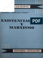 Merleau-Ponty, Maurice (1954) - Existencialismo y marxismo
