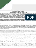 TABERNÁCULO DE MOISES-ORIGENS DO TEMPLO DE SALOMÃO