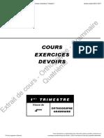 Cle 4eme Ortho Grammaire t1 Chapitre1 2017
