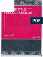 Fragmentele presocraticilor - 1