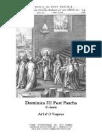 Dominica III Post Pascha. Ad I & II Vesperas