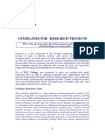 GUIDELINES  FOR  RESEARCH PROJECTS (2)