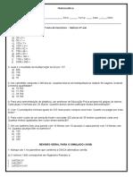 Reforço 6º ano - 4º lista de exercícios - Matemática - Joon
