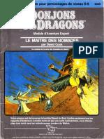 D&D Module X4 Le maître des Nomades